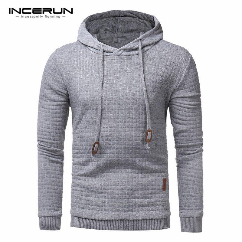 Hoodies Men 2017 Brand Male Long Sleeve Solid Color Hooded Sweatshirt Mens Hoodie Slim Tracksuit Sweat Coat Casual Sportswear