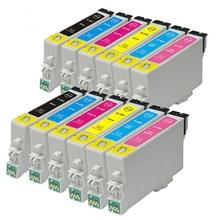 12 новых T0487 XL картридж для стилусы фото R200 R220 R300 R300M R320 R325 R340 RX500 RX600 RX620 принтер
