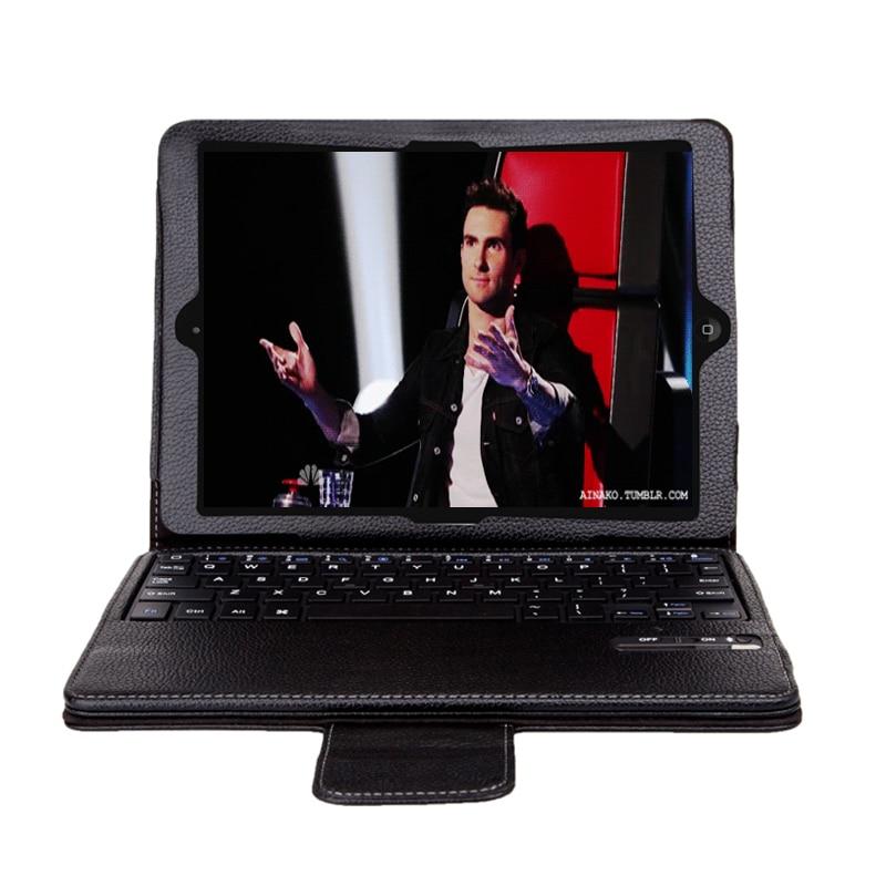 все цены на Original Brand Wireless Bluetooth Detachable Stand Thin ABS Keyboard Leather Case Smart Cover For Apple ipad min4+ Xmas Gift онлайн