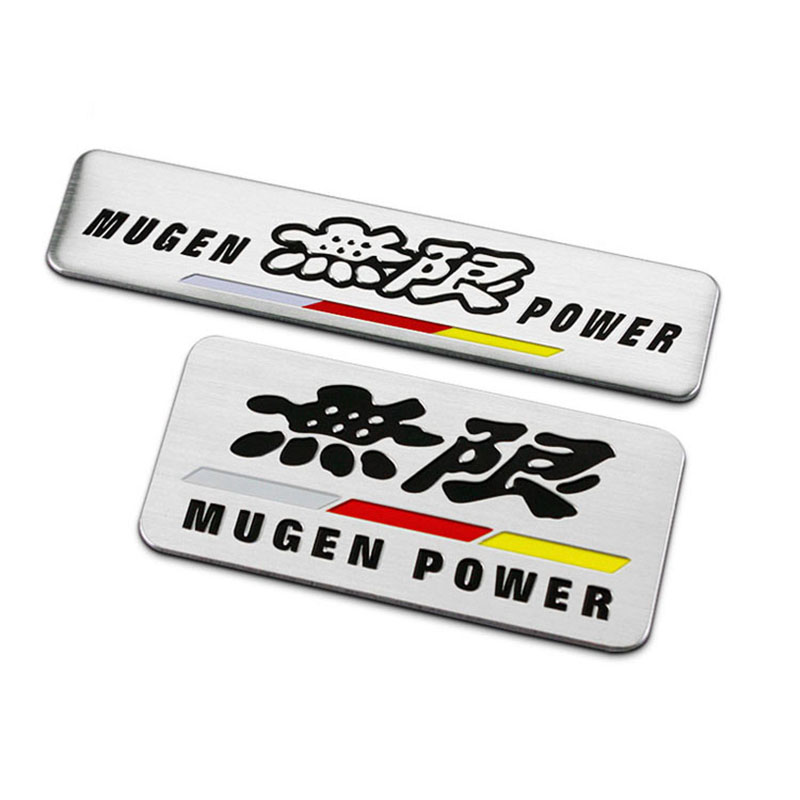 Long/Square Strips MUGEN POWER Badge Thin Aluminium Labelling ...