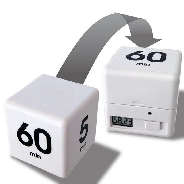 US $5 84 16% OFF Cube Kitchen Timer The Miracle Cube Timer, 5, 15, 30 and  60 Minutes for Time Management Kids Timer Workout Timer White Color-in