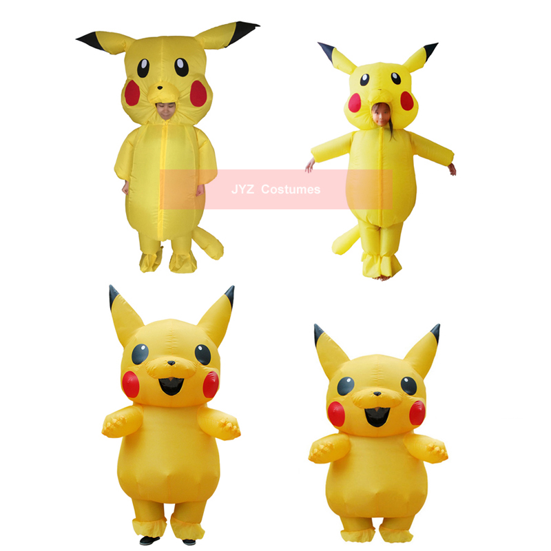 Aliexpress.com : Buy Blow Up Pikachu Pokemon Cosplay Jumpsuit Inflatable Halloween Costumes for ...