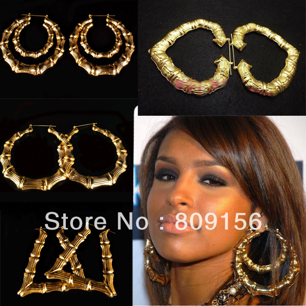 Free Shipping Europe Maya Door Knockers Basketball wives rihanna Gold Plated large Hoop bamboo Earring Jewelry-in Hoop Earrings from Jewelry \u0026 Accessories ...  sc 1 st  AliExpress.com & Free Shipping Europe Maya Door Knockers Basketball wives rihanna ...