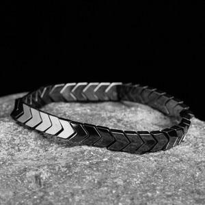 Natural stone Beads lava stone Tiger eye Golden silver plated Hematite wrap Men's bracelets bangles Charms Fashion bracelets(China)