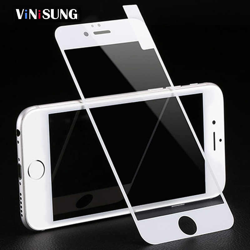 3D Tempered Glass For iPhone 7 6 6S 8 Full Cover Protective phone screen protector For iPhone 6S 6 7 8 Plus