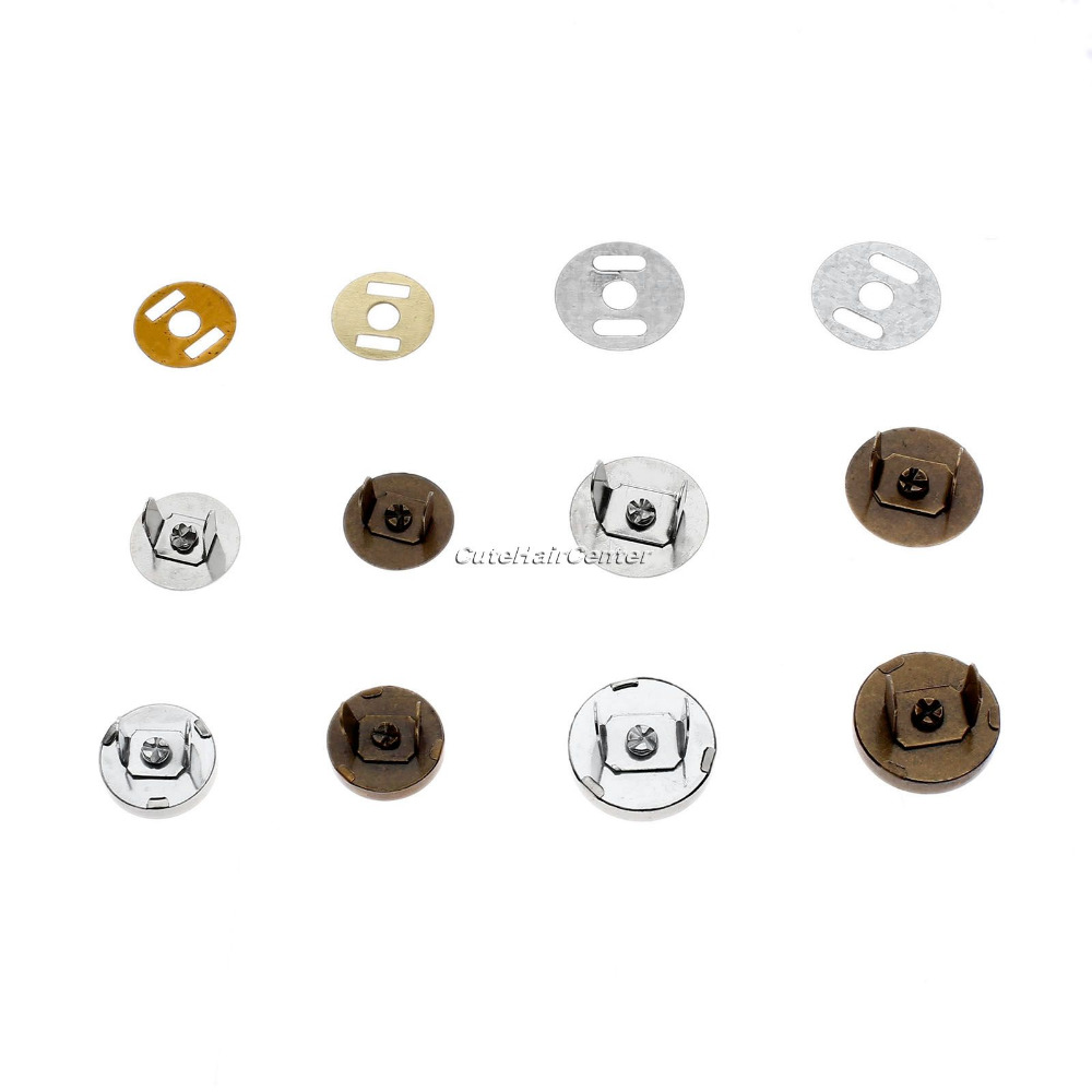 Genuine Hicello 10Sets Magnetic Buttons Snaps Fasteners Bag Purse Clasps Sewing Buttons Handbag Craft Leather Coat Buttons