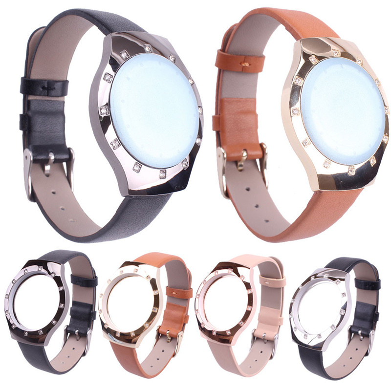 Diamond Leather Bracelet Watch Band Strap For Misfit shine Smart Wristband Sports Watch Replacement Watchbands Correa Reloj 20mm sports silicone gel bracelet watch strap band for fitbit charge 2 watchbands sporting accessories correa reloj 13 colors