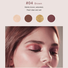 Pudaier 4 Colors Eyeshadow Pallete Shadows Pigment Eye Shadow Palette of Shadows Glitter Eyeshadows Makeup Cosmetics for Makeup недорого