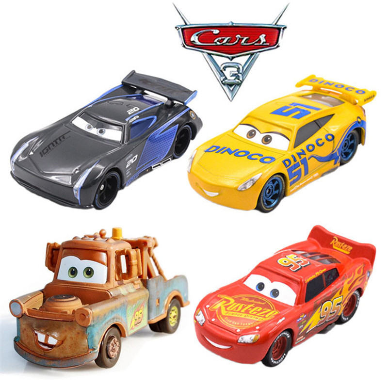 Disney Pixar Cars Pull-back Car McQueen Jackson Storm Cruz Ramirez Mater Diecast Metal Alloy Cars Model Toys For Kids