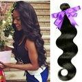 Тело Малайзийские волосы 1 пучок 100 г 8 ''-28'' # 1b landot волос малайзийский Девы Волос Объемной Волны 100% реального человеческих волос дело