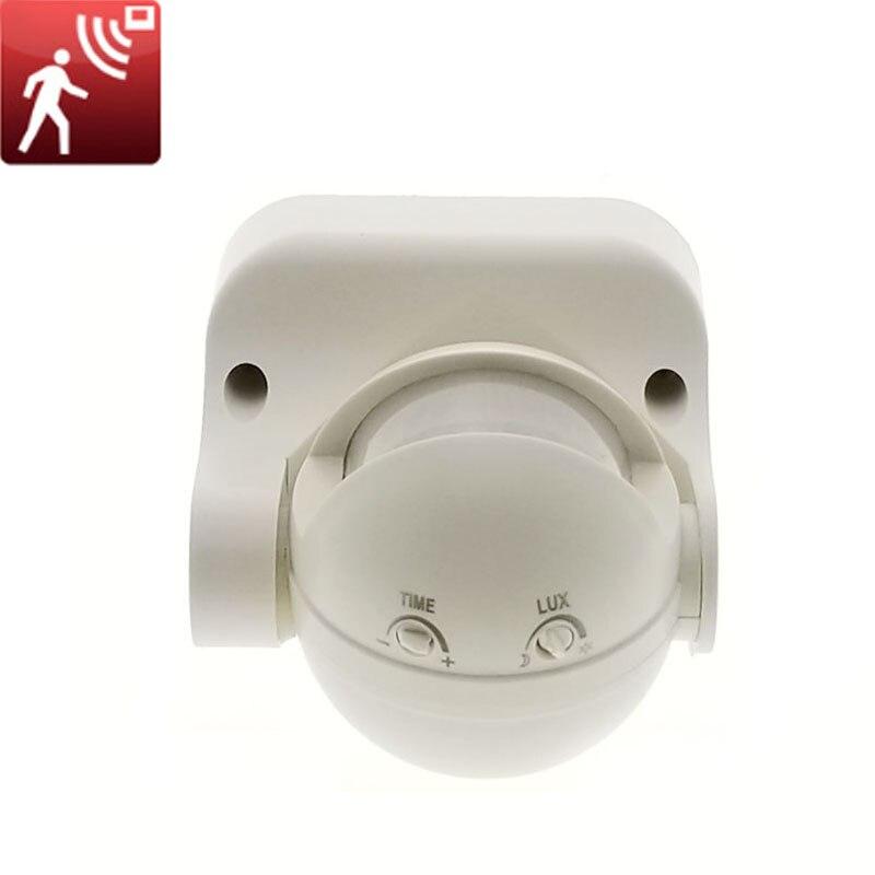 Alta qualidade 110 v 220 v 180 graus ao ar livre ip44 segurança pir infravermelho sensor de movimento interruptor detector movimento max 8m