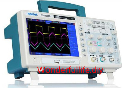 <font><b>Digital</b></font> <font><b>200MHz</b></font> 2Channels Bench <font><b>Oscilloscope</b></font> Scopemeter 1GS/s USB 7'' Color LCD High-Resolution 800x480 Record Length 1M DSO5202B image