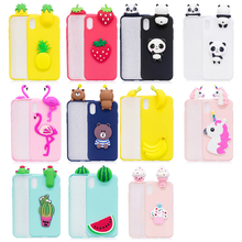 3D Case For iPhone 6 7 8 plus Case Panda Unicorn Fruit Flamingo Phone Cases For iPhone 5S 5 SE Coque For iPhone X Case