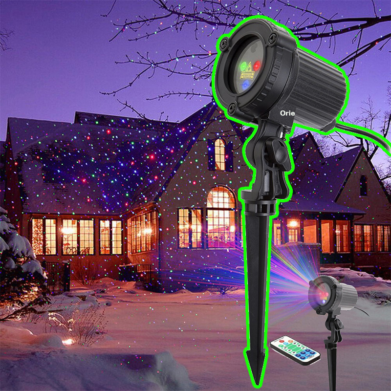 Twinkle Stars Laser Projector Motion dot Led Christmas Lights outdoor New Year's Eve Light for Home Garden Decoration RGB