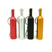 Топ Металлическая бутылка вина флэш-накопитель usb брелок карта памяти, Флеш накопитель персональный мини-ПК подарок pendrive 4gb 8gb 16gb 32gb