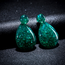 KMVEXO Fashion Bohemian Color Resin Water Drop Acrylic Earrings For Women 2018 Statement Earrings Party Accessories Wholesale