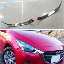 Lapetus Car Styling Front Fronthead Lights Lamps Eyebrows Eyelid Cover Trim ABS Fit For Mazda 2 Demio 2015 2016 2017 2018 2019