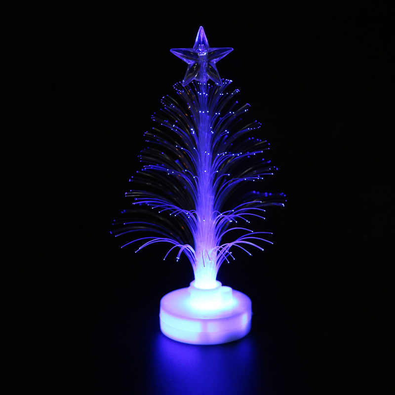 Feliz quente Mudança de Cor LED Mini Mesa de Natal Xmas Tree Home Decor Festa Charme