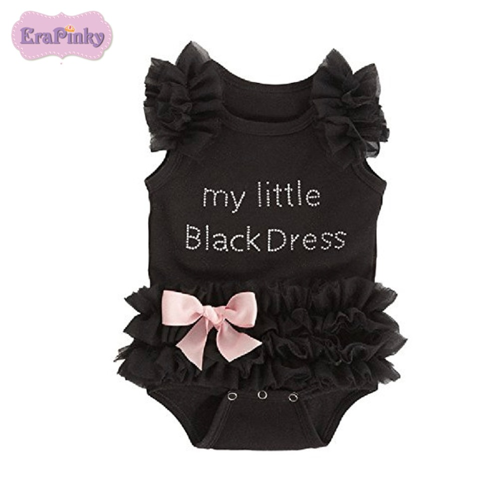 Erapinky Summer Newborn Baby Bodysuits Letter My little dessLace Bow Bodysuit For Kids Baby Cute Jumpsuit Outfits Kids Clothes