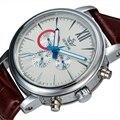 Sewor Classic Correa de Cuero Reloj mecánico de Los Hombres Reloj de Lujo Marca de Relojes de pulsera de Los Hombres Relojes Mecánicos Automáticos de la Manera SWQ02