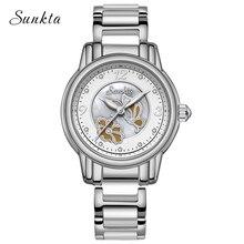 SUNKTA2019 New Ceramic Quartz Watch Women Rose Gold Fashion Casual Watches Waterproof Ladies Girl Relogio Feminino