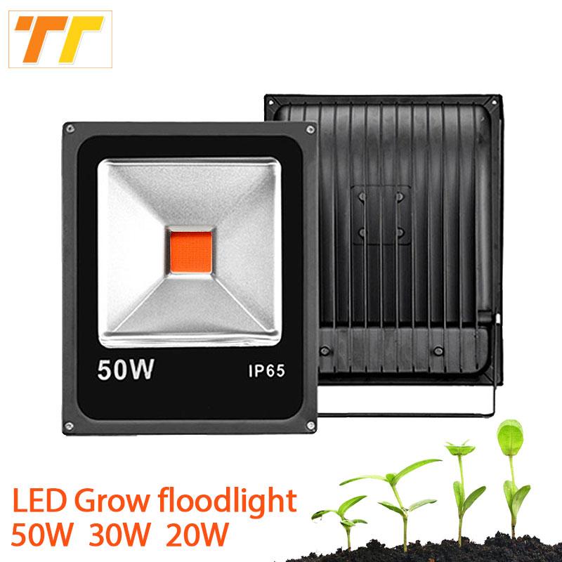 Led Plant Grow Floodlight 50W 30W 20W Led Flood Light Spotlight 220V IP65 vízálló kültéri növénytermesztés