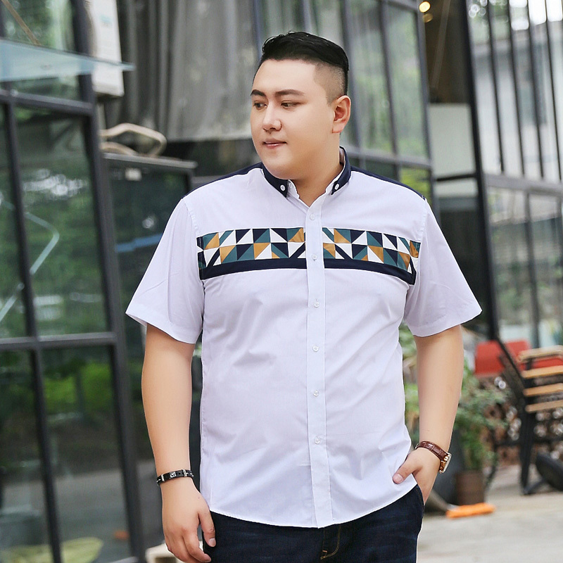 2018 new Plus size 9XL 8XL 7X 6XL 5XL Brand Clothing Short Sleeve Shirt Men Plaid Slim Fit 100% Cotton Casual Social Shirt Men