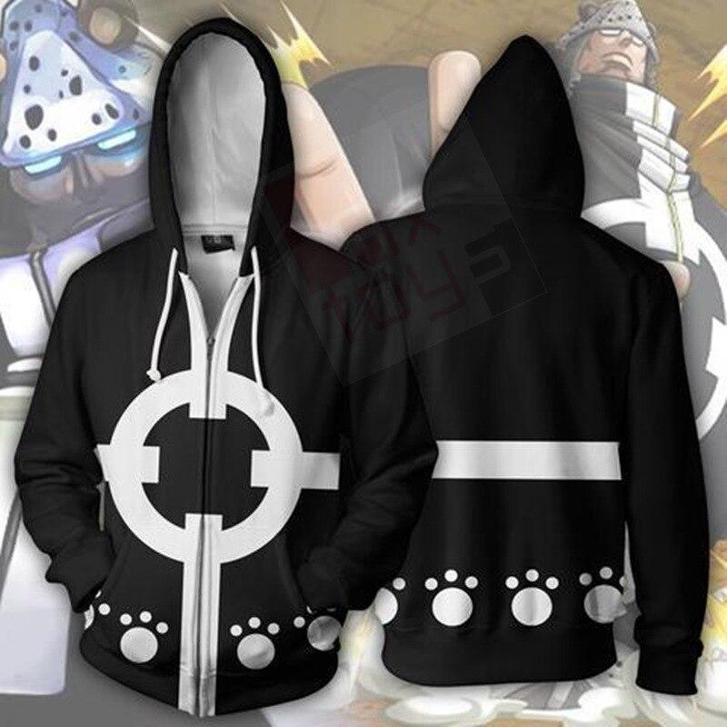ONE PIECE Bartholemew Kuma Costume Hoodie Cosplay Anime Sweatshirts 3D Men New