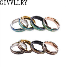 Punk Vintage Creative Emotion Mood Ring Titanium Steel Color Changing Personality Ring Rings For Men Women Party Gift