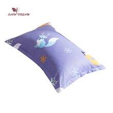 SlowDream Cartoon Fox Bedding Pillowcase Sleeping Bedroom Pillow Cover Decorative Home Textiles 48X74CM Size