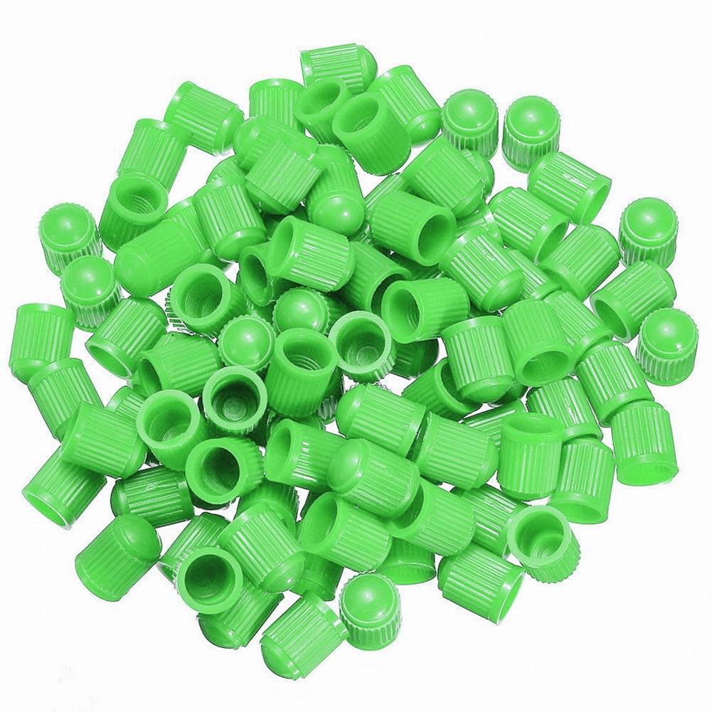 100 шт Универсальный Автомобильный велосипед Мотоцикл Грузовик колесная шина клапан Стволовые пылезащитные колпачки пластиковая крышка автомобильный Стайлинг - Цвет: Зеленый