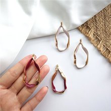 Geometric Exaggerated Wave Stud Earrings For Women Retro Personality Waterdrop Irregular Simple Fashion Party Jewelry