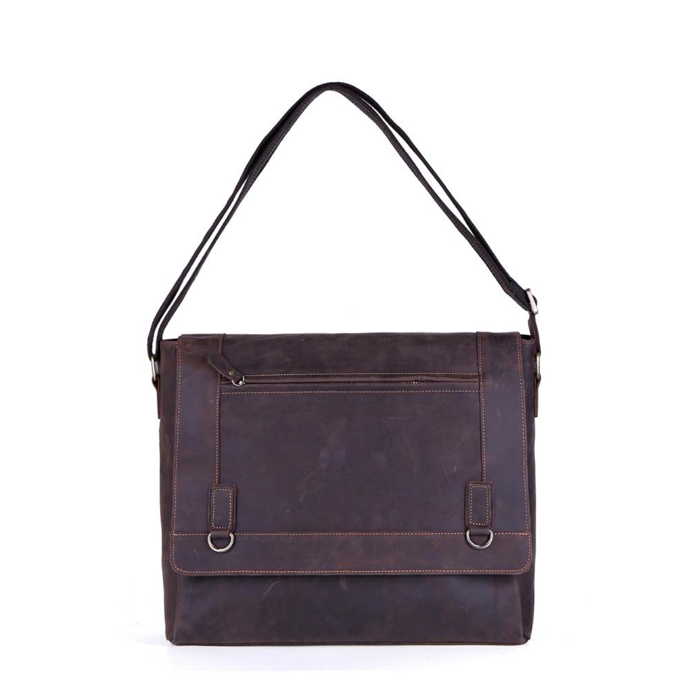 ФОТО HOT SALE New vintage style high quality genuine leather men messenger bag head layer cowhide single shoulder bags men Briefcase