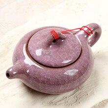Hielo grieta del esmalte olla de Té Tradicional Chino, Diseño elegante Servicio de Juegos de Té, China tetera Roja Regalos Creativos