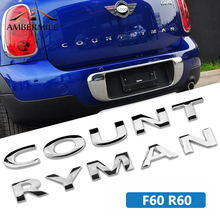 AMBERMILE 3D металлические наклейки в виде букв на задний багажник логотип эмблемы автомобиля слова наклейка для BMW Mini Cooper Countryman R60 F60 аксессуары