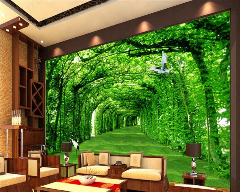 Boulevard Beibehang 3D Wallpaper Pemandangan Alam Segar Naungan 3D