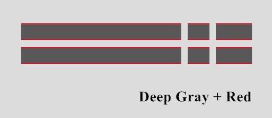 Автомобильный капот крышка двигателя виниловая наклейка авто задний багажник линии наклейки на капот Спорт полоса для Mini Coopers F54 F55 F56 R56 R57 R58 - Название цвета: Deep gray-Red