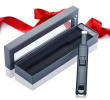 1ชิ้นUSBบาร์บีคิวไฟฟ้าr echareable windproofเบาเป็นสูบบุหรี่เครื่องประดับเตาผิงเตาในครัวarcชีพจรเบา