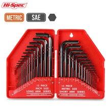 Hi   Spec 30 ชิ้น Universal Hexagonal Key ชุดเมตริก/Imperial Allen Key L Shape จักรยานประแจแรงบิดเหล็ก CRV Spanner ชุด ST30097
