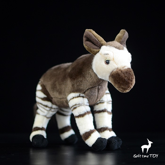 Stuffed Wild Animal Toy Doll  Simulation Okapi  Zebra  Giraffe Kids Plush Toys Dolls Gift  Rare  9 22 cm gengar plush toys anime new rare soft stuffed animal doll for kids gift