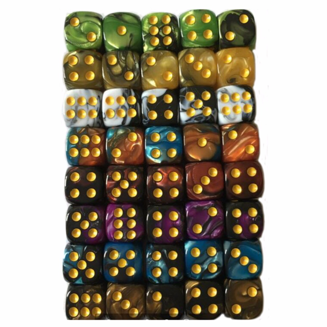 10Pcs 12mm Colorful Acrylic Spot Dice 6 Sided Drinking Dices Portable Table Games Party Bar Club Tool 9 Color Choice