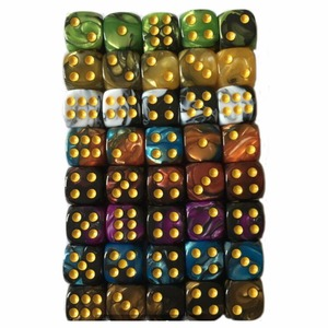 10Pcs 12mm Colorful Acrylic Spot Dice 6 Sided Drinking Dices Portable Table Games Party Bar Club Tool 9 Color Choice(China)