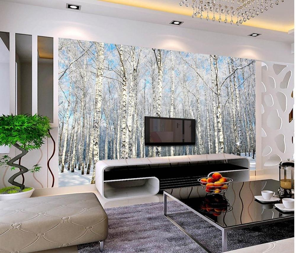 Online get cheap winter landscape wallpaper aliexpress for Cheap living room wallpaper