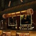 90 CM naturaleza mimbre bambú nórdico Retro Loft estilo LED luces Colgantes creativo grabado lámpara colgante Lamparas Colgantes
