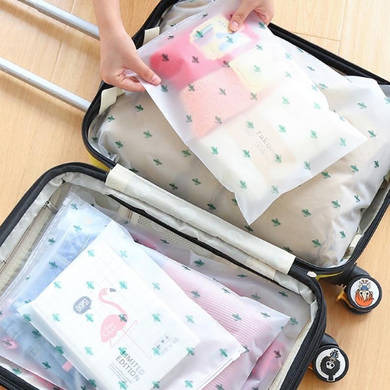 Multifunctional Waterproof Travel Accessories  Cosmetics Washing  Bag Transparent Zipper Bag 5 Size