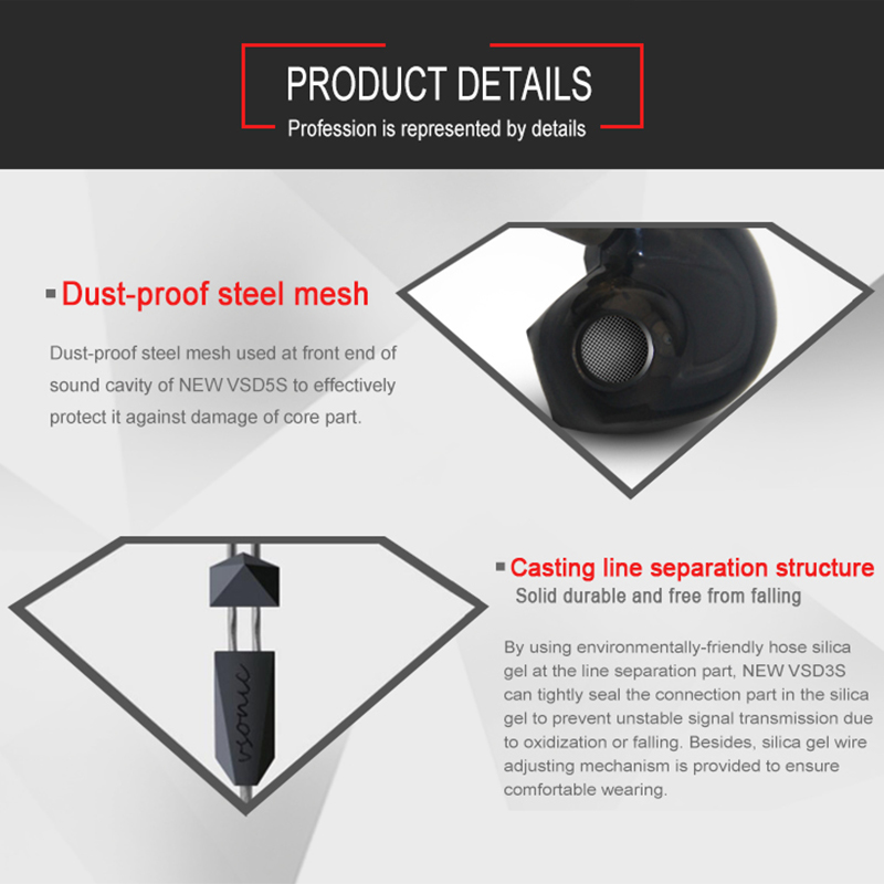 VSONIC VSD3Si Control en línea Micrófono Profesional Auricular con - Audio y video portátil - foto 6