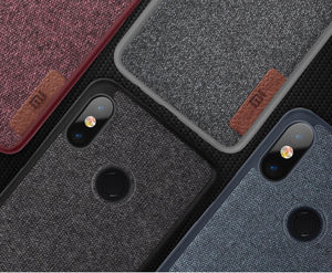 Image 4 - Shockproof Soft TPU+Flannel Cloth Leather Slim Skin Back Cover Case For Xiaomi Redmi Note 5 Pro/ Mi A2/A2 Lite