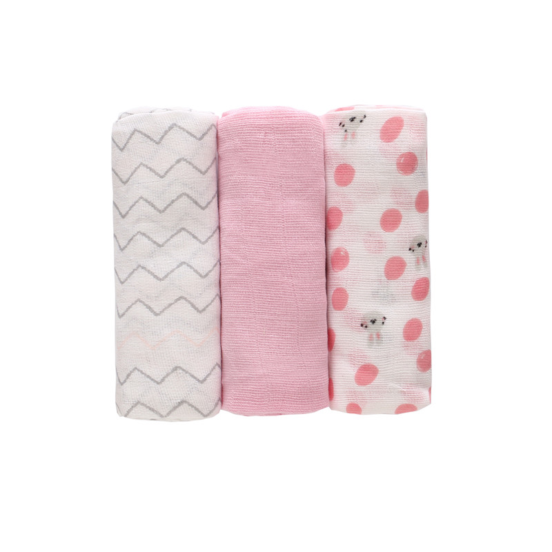 3Pc/Lot 100% Baby Blankets Newborn Muslin Diapers 100% Cotton Baby Swaddle Wrap Cloth Diaper Infant Nursing Cover Bath Towel