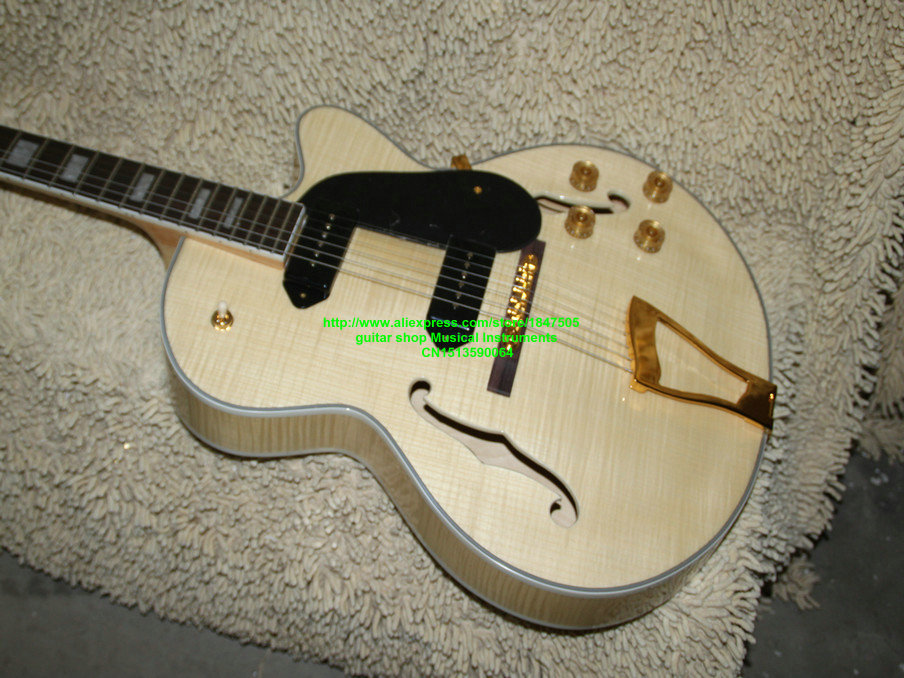 Natural Hollow body Electric Guitar L-5 Classic Jazz Guitar From China Free Shipping high quality custom shop lp jazz hollow body electric guitar vibrato system rosewood fingerboard mahogany body guitar