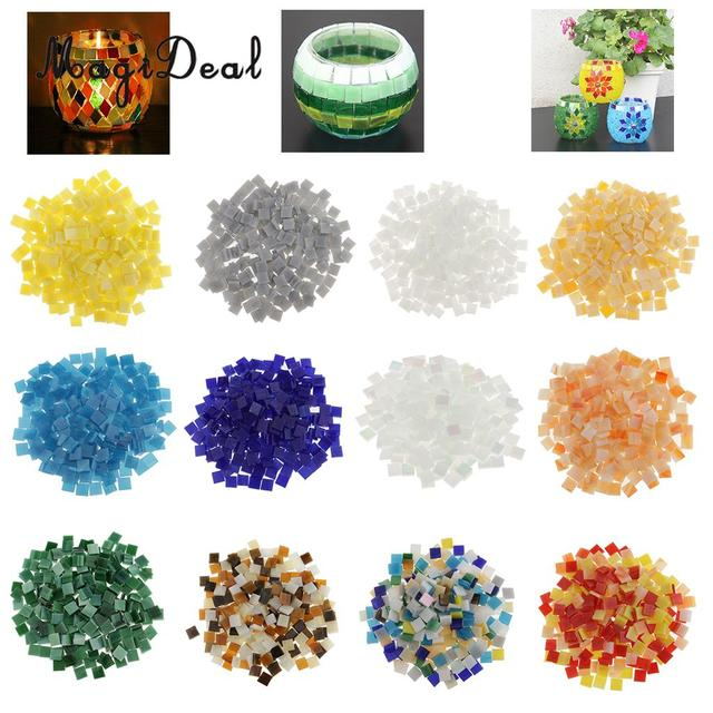 Magideal 250 Pcs/Lot Vitreous Glass Mosaic Tiles for Arts Cups Photo ...